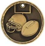 Football 3-D Series Medal 3-D Series