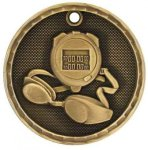 Swimming 3-D Series Medal 3-D Series