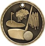 Golf 3-D Series Medal 3-D Series