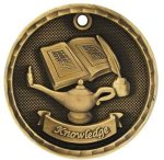 Knowledge 3-D Series Medal 3-D Series