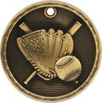 Baseball 3-D Series Medal Baseball Awards