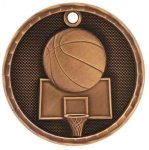 Basketball 3-D Series Medal Basketball Awards