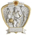 Basketball, Male Shield Resin Basketball Awards