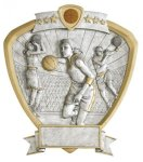Basketball, Female Shield Resin Basketball Awards