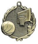 Basketball Wreath Series Medal Basketball Awards
