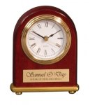 Arch Desk Clock Piano Finish Clocks