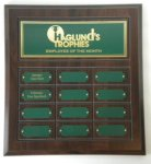 Cherry Finish Perpetual Plaque Perpetual Plaques