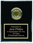 Clock Plaque Black Piano Finish Recognition Plaques