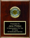 Clock Plaque Rosewood Piano Finish Recognition Plaques