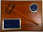 Walnut Half Gavel Plaque Recognition Plaques