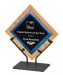 Galaxy Acrylic Bamboo Plaque with Iron Stand Recognition Plaques