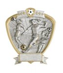 Soccer, Female Shield Resin Soccer Awards
