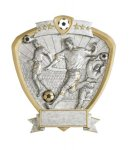 Soccer, Male Shield Resin Soccer Awards