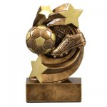 Soccer Star Swirl Resin Award Star Swirl Resin