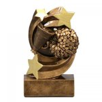 Cheer Star Swirl Resin Award Star Swirl Resin