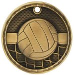 Volleyball 3-D Series Medal Volleyball Awards