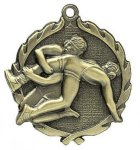 Wrestling Wreath Series Medal Wrestling Awards
